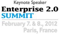 Dion Hinchcliffe Keynoting at Enterprise 2.0 Summit in Paris in February 2012