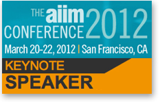 Dion Hinchcliffe Keynote at AIIM Conference 2012