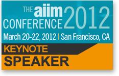 Dion Hinchcliffe Keynote at AIIM Conference 2012