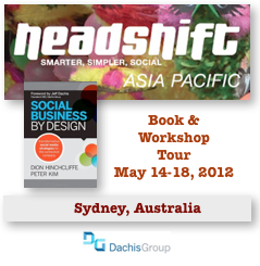 Social Business By Design Australia Book Tour May 2012 by Dion Hinchcliffe