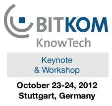 Keynote and Workshop at Knowtech in Stuttgart, Germany in 2012