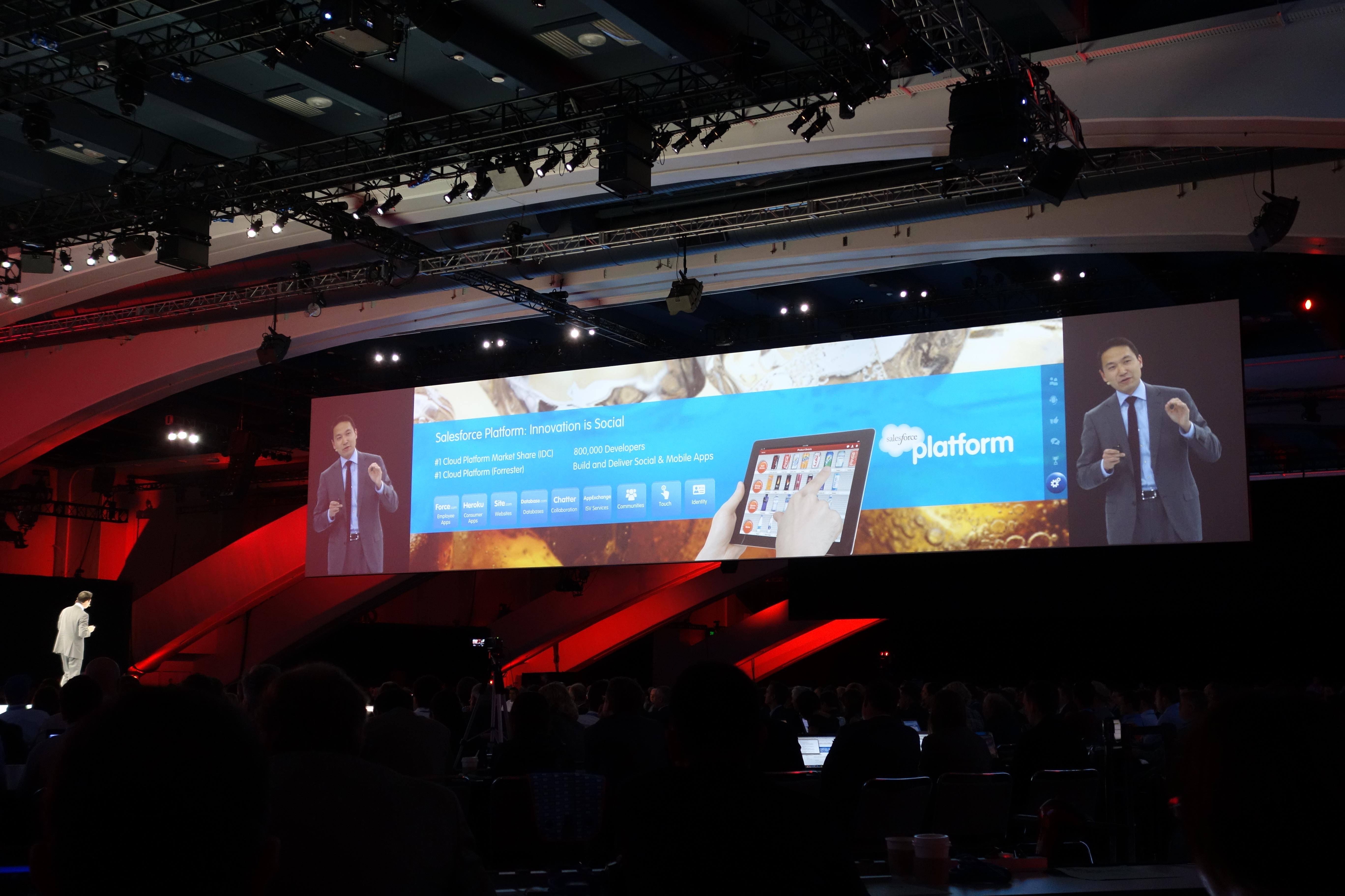 George Hu talking about Salesforce Platform at Dreamforce 12