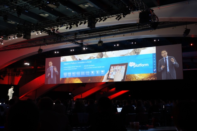 George Hu talking about Salesforce Platform at Dreamforce 12