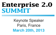 Enterprise 2.0 Summit Keynote in Paris France by Dion Hinchcliffe | March 2013