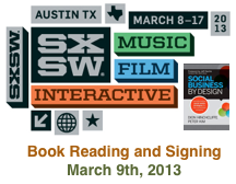 Dion Hinchcliffe's book reading and signing at SXSW 2013 in Austin, Texas