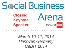 Dion Hinchcliffe's Closing Keynote at Social Business Arena 2014 at CeBIT in Hanover, Germany
