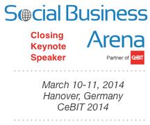 Dion Hinchcliffe's Closing Keynote at Social Business Arena 2014 at CeBIT in Hanover, Germany