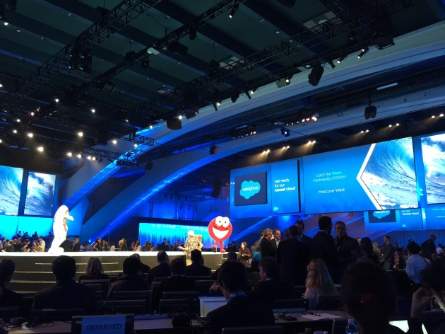 The Benioff Keynote at Dreamforce 14: The scene before it starts
