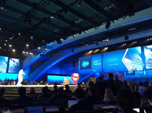 The Benioff Keynote at Dreamforce 14: The scene before it starts