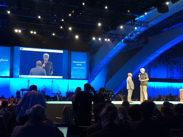Peter Coffee onstage at Dreamforce 14