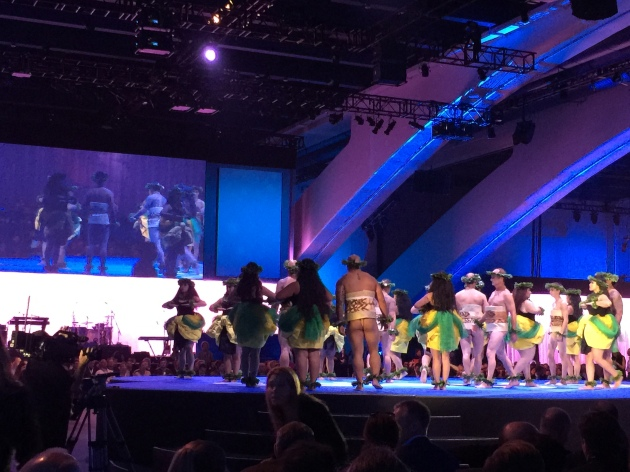 Hawaiian band and performers at Dreamforce 2014 #df14