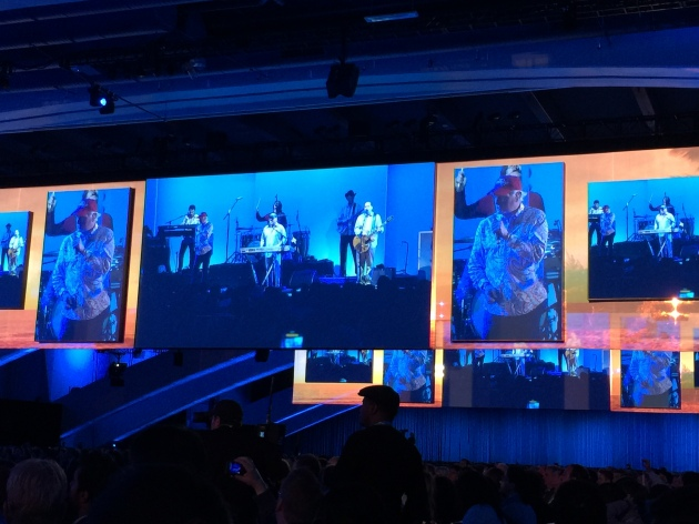 The famous Beach Boys playing 'Good Vibrations' at Dreamforce 14. #df14