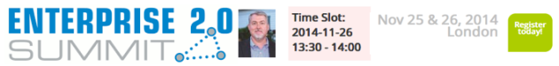 Dion Hinchcliffe will give the afternoon keynote at theEnterprise 2.0 SUMMIT in London