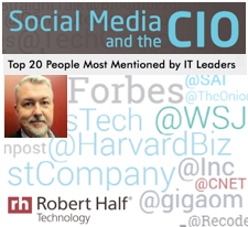 Dion Hinchcliffe is one of the Top 20 People Most Mentioned by IT Leaders