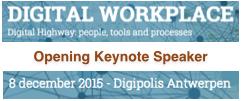 Digital Workplace 2015 in Antwerp, Belgium | Keynote Speaker Dion Hinchcliffe