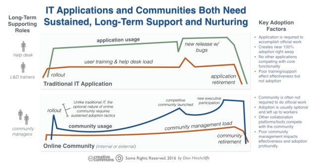IT Applications and Communities Both Need Management Support and Nurturing