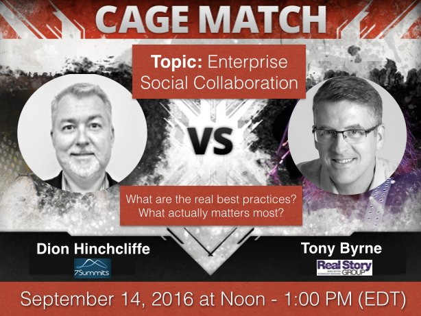 Town Hall Debate on Enterprise Social Collaboration and Networks with Dion Hinchcliffe and Tony Byrne