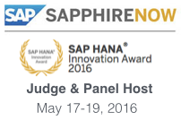 SAP Sapphire Now Hana Innovation Awards 2016 Judge and Panel Host Dion Hinchcliffe