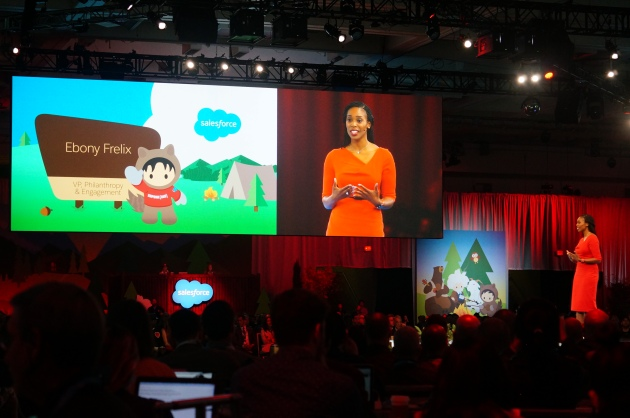 RED's Ebony Frelix talking about using Salesforce to fight AIDS