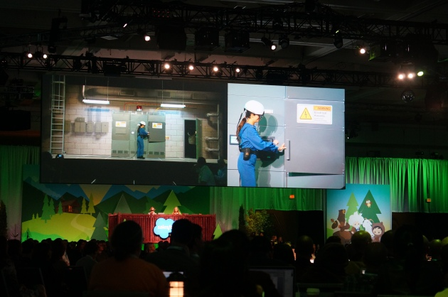 An augmented reality demo at Dreamforce 2016