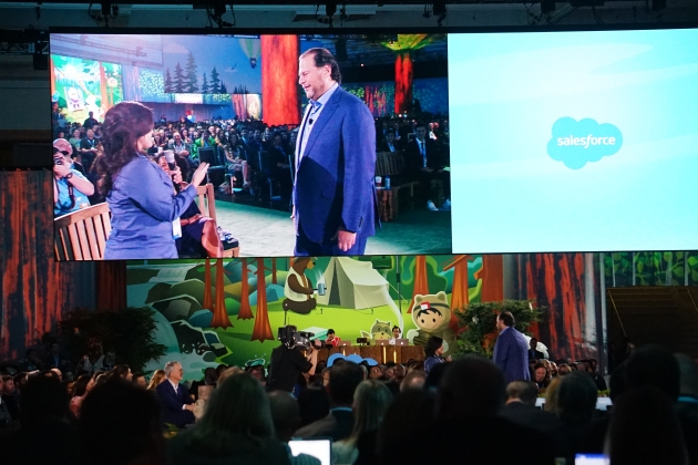 Marc Benioff with MVP Stephanie_Herrera at Dreamforce 2017 #df17