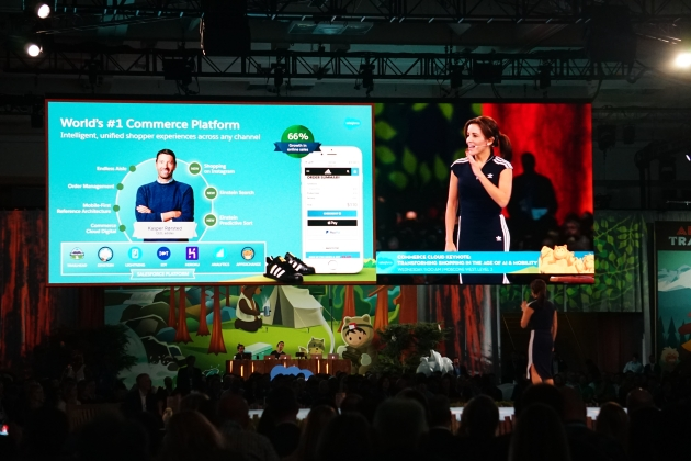 Stephanie Buscemi shows off the Data Management Platform in Salesforce at Dreamforce 2017 #df17