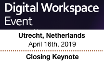 Digital Workspace Event in Utrecht Netherlands on April 16th, 2019 | Closing Keynote by Dion Hinchcliffe